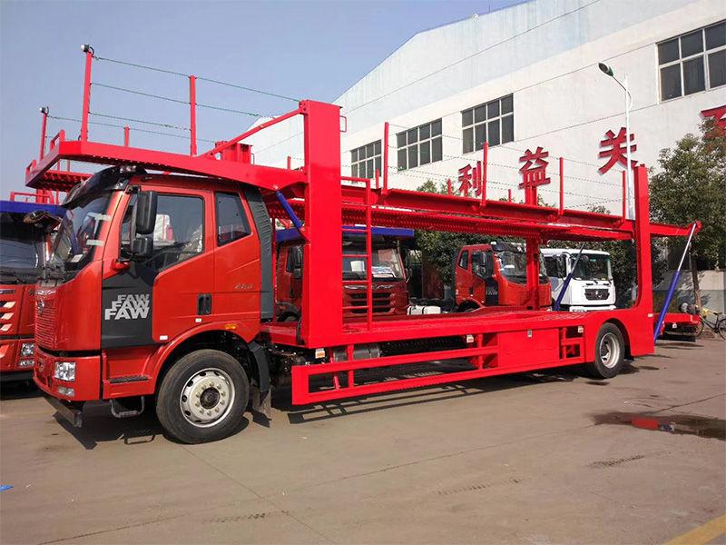 长春解放J6(不能拖挂车)五位轿运车 后桥钢板款标配26.3万