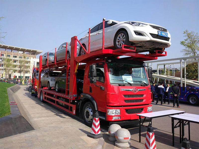 青岛解放龙V五位轿运车 6缸锡柴标配整车25.8万