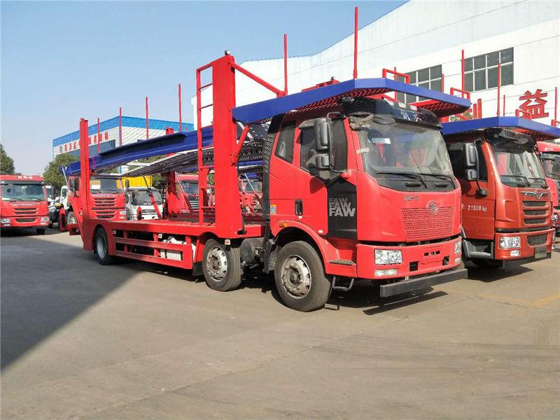 长春解放J6小三轴轿运车 大柴六缸320马力 整车34万