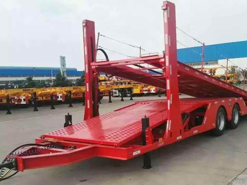 中置轴车辆运输挂车 标配可拉5台A级车或4台SUV 整车12.5万